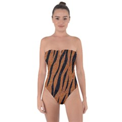 SKIN3 BLACK MARBLE & RUSTED METAL Tie Back One Piece Swimsuit