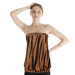 SKIN3 BLACK MARBLE & RUSTED METAL Strapless Top