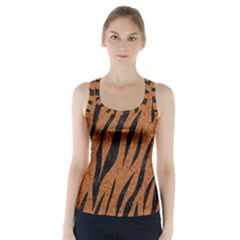 SKIN3 BLACK MARBLE & RUSTED METAL Racer Back Sports Top