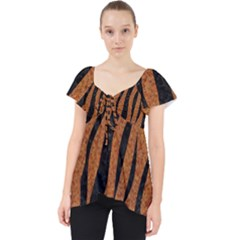 SKIN3 BLACK MARBLE & RUSTED METAL Lace Front Dolly Top