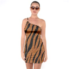 SKIN3 BLACK MARBLE & RUSTED METAL One Soulder Bodycon Dress