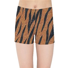 SKIN3 BLACK MARBLE & RUSTED METAL Kids Sports Shorts
