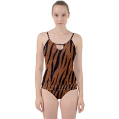 SKIN3 BLACK MARBLE & RUSTED METAL Cut Out Top Tankini Set