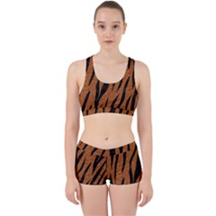 SKIN3 BLACK MARBLE & RUSTED METAL Work It Out Sports Bra Set