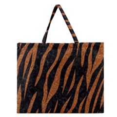 Skin3 Black Marble & Rusted Metal (r) Zipper Large Tote Bag by trendistuff