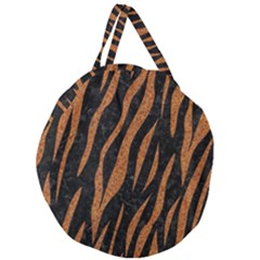 Skin3 Black Marble & Rusted Metal (r) Giant Round Zipper Tote by trendistuff