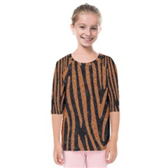 Skin4 Black Marble & Rusted Metal Kids  Quarter Sleeve Raglan Tee by trendistuff
