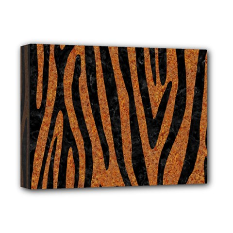 Skin4 Black Marble & Rusted Metal (r) Deluxe Canvas 16  X 12   by trendistuff