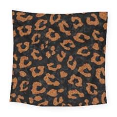 Skin5 Black Marble & Rusted Metal Square Tapestry (large) by trendistuff