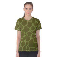 Autumn Animal Print 1 Women s Cotton Tee by tarastyle