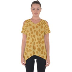 Autumn Animal Print 2 Cut Out Side Drop Tee by tarastyle