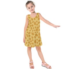 Autumn Animal Print 2 Kids  Sleeveless Dress by tarastyle