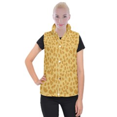 Autumn Animal Print 2 Women s Button Up Puffer Vest by tarastyle