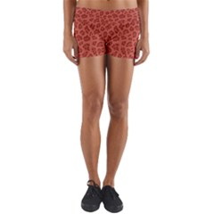 Autumn Animal Print 4 Yoga Shorts by tarastyle