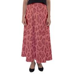 Autumn Animal Print 4 Flared Maxi Skirt by tarastyle