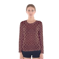 Autumn Animal Print 5 Women s Long Sleeve Tee by tarastyle