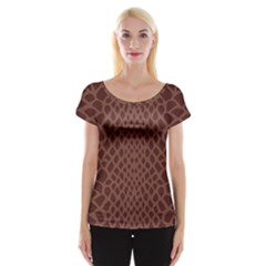 Autumn Animal Print 5 Cap Sleeve Tops by tarastyle
