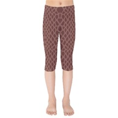 Autumn Animal Print 5 Kids  Capri Leggings  by tarastyle