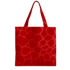 Autumn Animal Print 6 Zipper Grocery Tote Bag by tarastyle