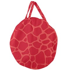 Autumn Animal Print 6 Giant Round Zipper Tote by tarastyle