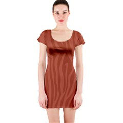 Autumn Animal Print 8 Short Sleeve Bodycon Dress by tarastyle