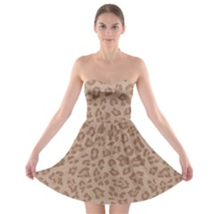 Autumn Animal Print 9 Strapless Bra Top Dress by tarastyle