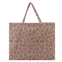 Autumn Animal Print 9 Zipper Large Tote Bag by tarastyle