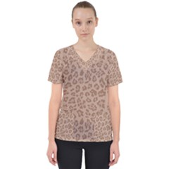 Autumn Animal Print 9 Scrub Top by tarastyle