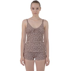 Autumn Animal Print 9 Tie Front Two Piece Tankini by tarastyle