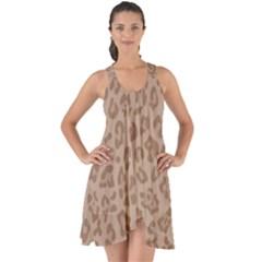 Autumn Animal Print 9 Show Some Back Chiffon Dress