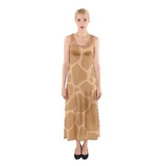 Autumn Animal Print 10 Sleeveless Maxi Dress