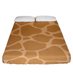 Autumn Animal Print 10 Fitted Sheet (king Size) by tarastyle