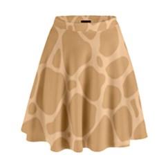 Autumn Animal Print 10 High Waist Skirt