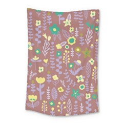 Cute Doodle Flowers 3 Small Tapestry by tarastyle