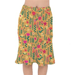 Cute Doodle Flowers 4 Mermaid Skirt by tarastyle