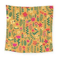 Cute Doodle Flowers 4 Square Tapestry (large) by tarastyle