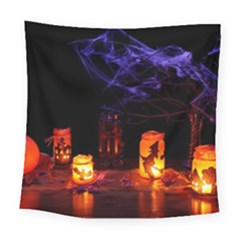 Awaiting Halloween Night Square Tapestry (large) by gothicandhalloweenstore