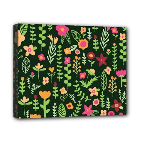 Cute Doodle Flowers 7 Canvas 10  X 8  by tarastyle