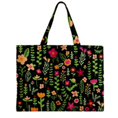 Cute Doodle Flowers 7 Zipper Mini Tote Bag by tarastyle