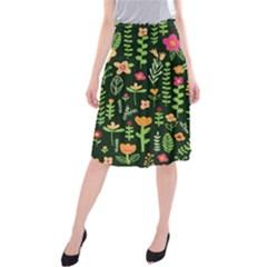 Cute Doodle Flowers 7 Midi Beach Skirt by tarastyle
