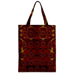 Pumkins  In  Gold And Candles Smiling Zipper Classic Tote Bag by pepitasart