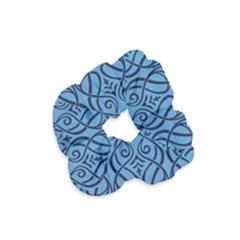 Art Nouveau Teal Velvet Scrunchie by 8fugoso