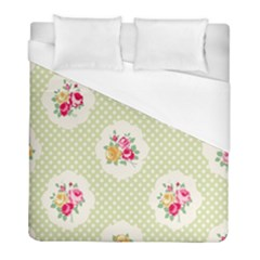 Green Shabby Chic Duvet Cover (full/ Double Size) by 8fugoso