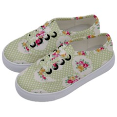 Green Shabby Chic Kids  Classic Low Top Sneakers by 8fugoso