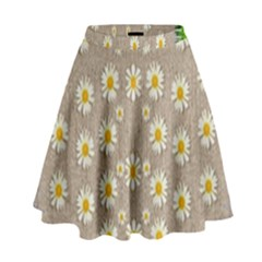 Star Fall Of Fantasy Flowers On Pearl Lace High Waist Skirt by pepitasart
