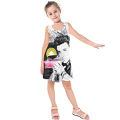 Elvis Presley Collage Kids  Sleeveless Dress