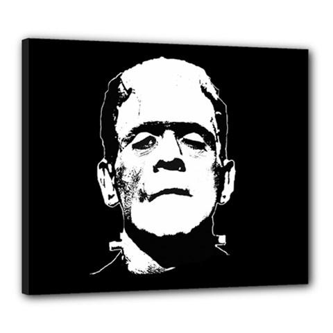Frankenstein s Monster Halloween Canvas 24  X 20  by Valentinaart