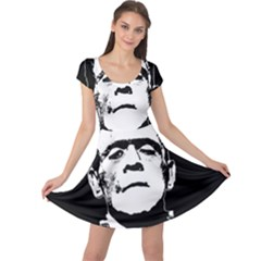 Frankenstein s Monster Halloween Cap Sleeve Dress