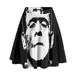 Frankenstein s Monster Halloween High Waist Skirt by Valentinaart