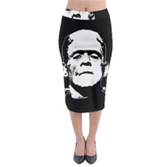 Frankenstein s Monster Halloween Midi Pencil Skirt by Valentinaart